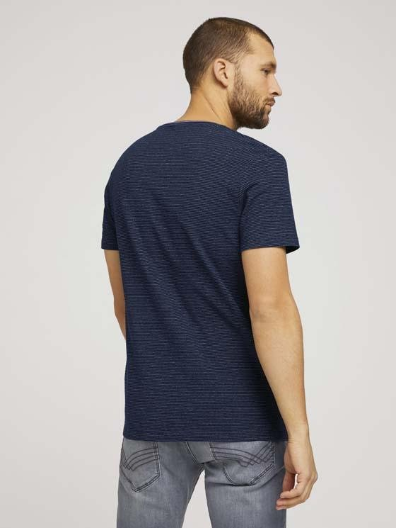 TOM TAILOR - T-shirt with allover jacquard - Boutique Bubbles