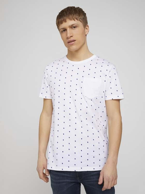 TOM TAILOR - T-shirt with alloverprint - Boutique Bubbles