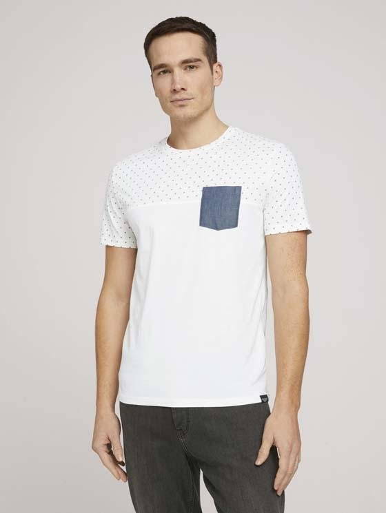 TOM TAILOR - T-shirt with printed top - Boutique Bubbles