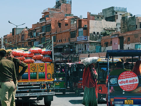 the streets of delhi india