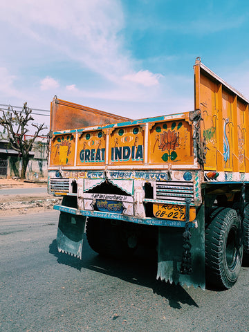 hand letter truck in delhi india