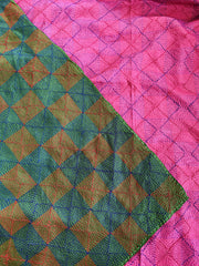 MARKET Hot Pink & Emerald Reversable Stole