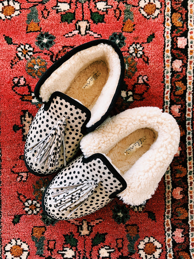 Mini Dot Shearling Moccasin