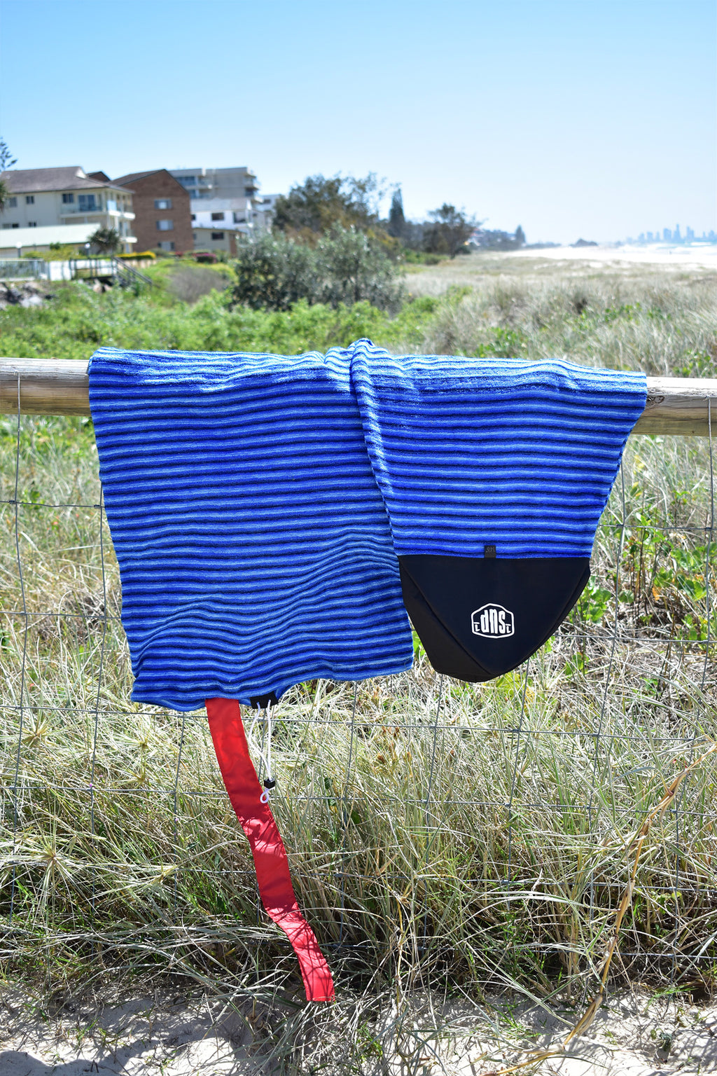 SUP Board Sock (Dark Blue, Light Blue & White Stripe)