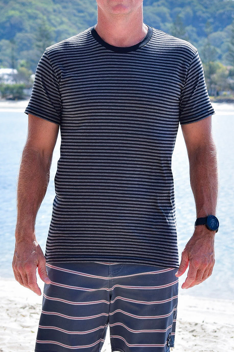 Men's Yesterdaze Stripe Tee (Black)