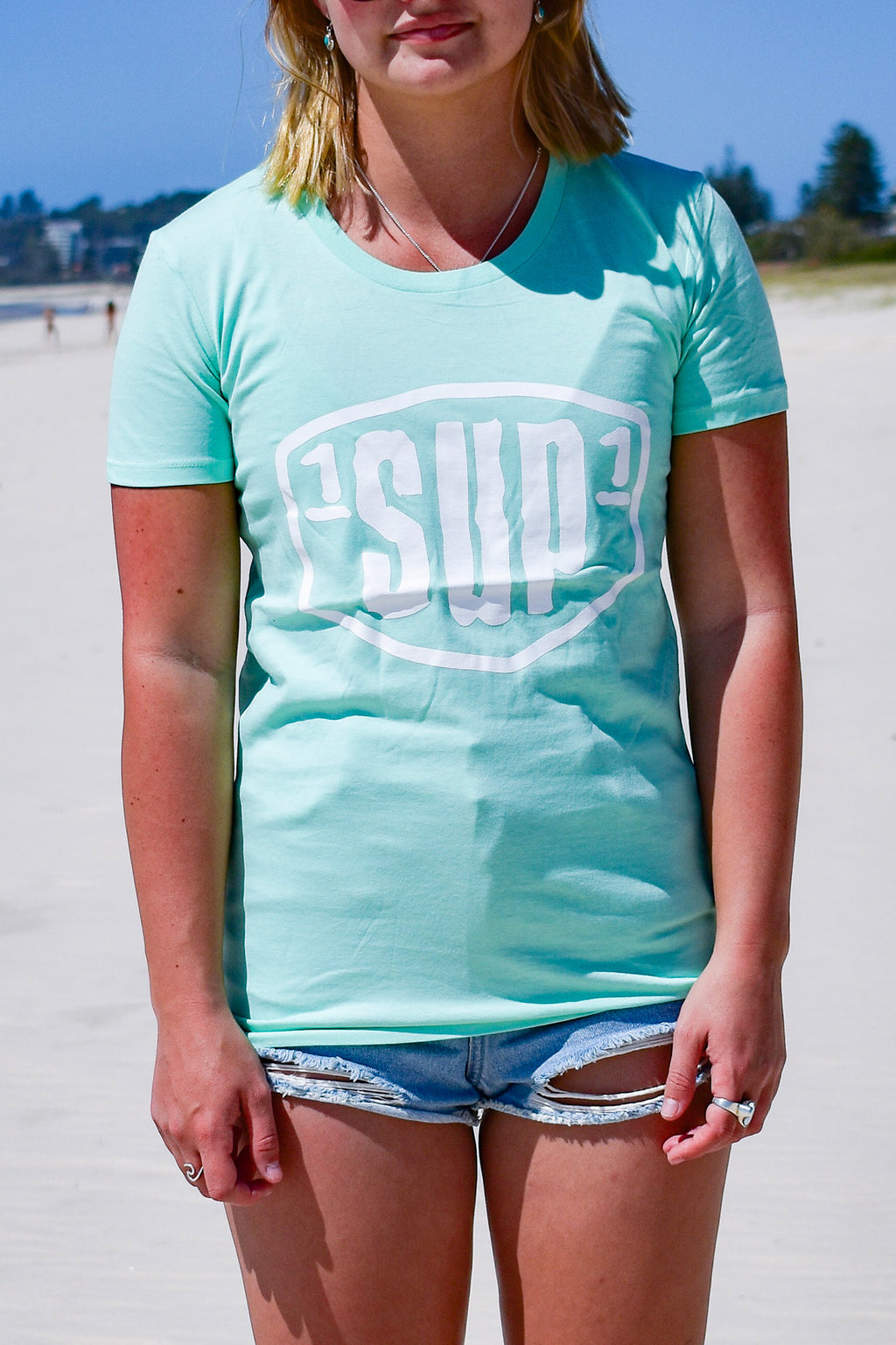 Women's Big Logo Tee (Mint)