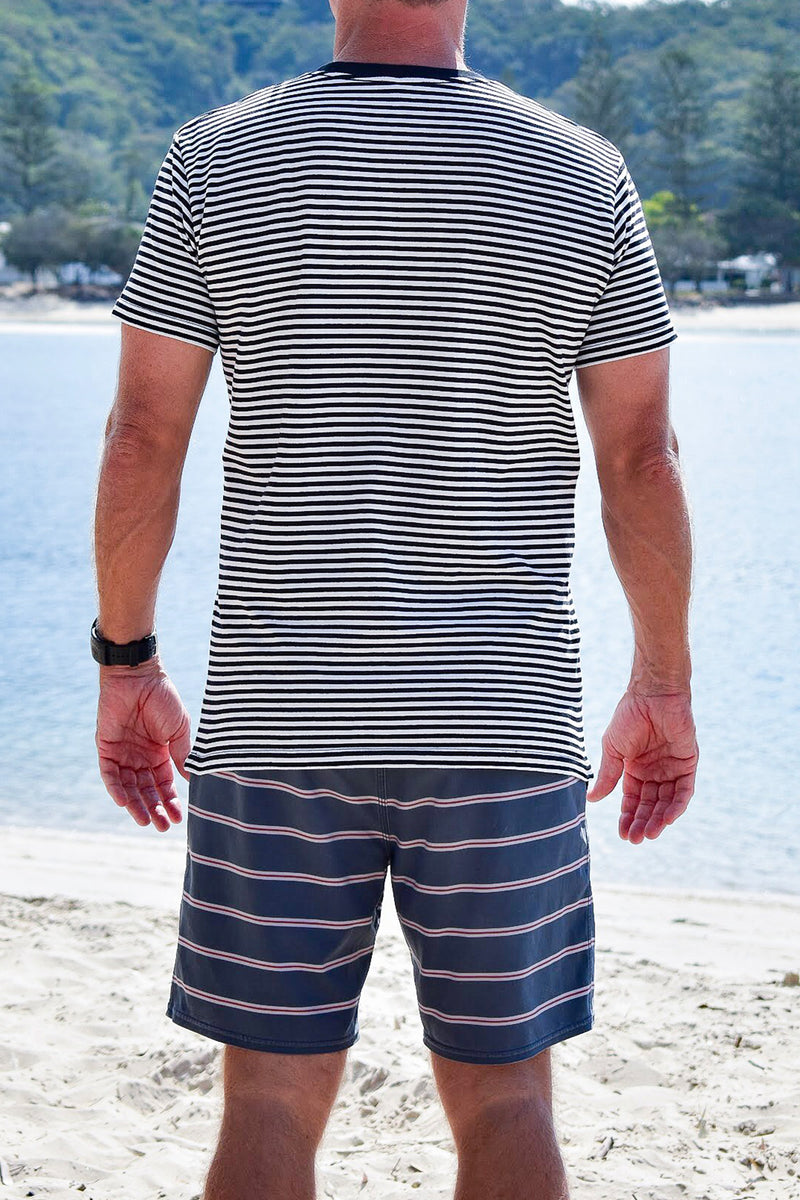 Men's Yesterdaze Stripe Tee (White)
