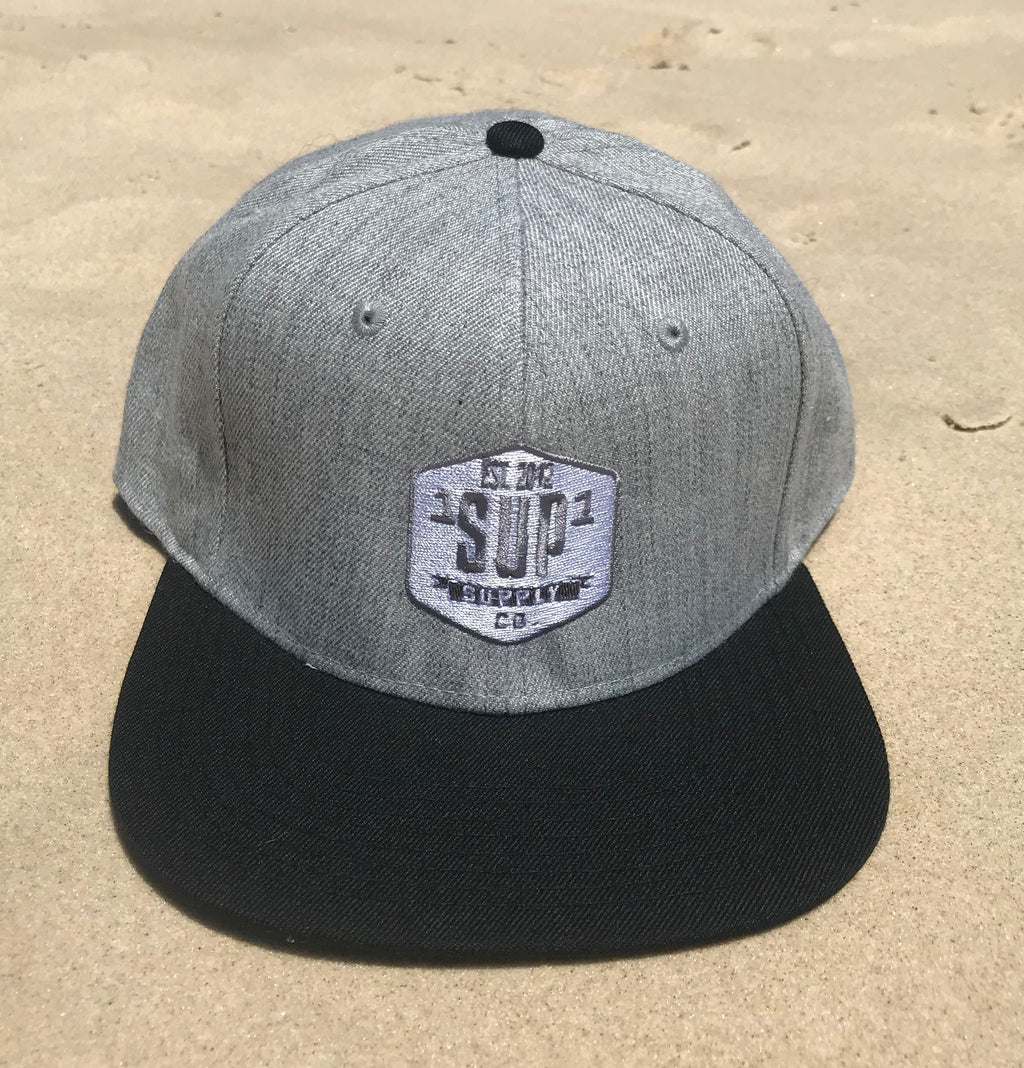 "1SUP1 ""Supply Co"" Cap (Grey Marle/Black)"