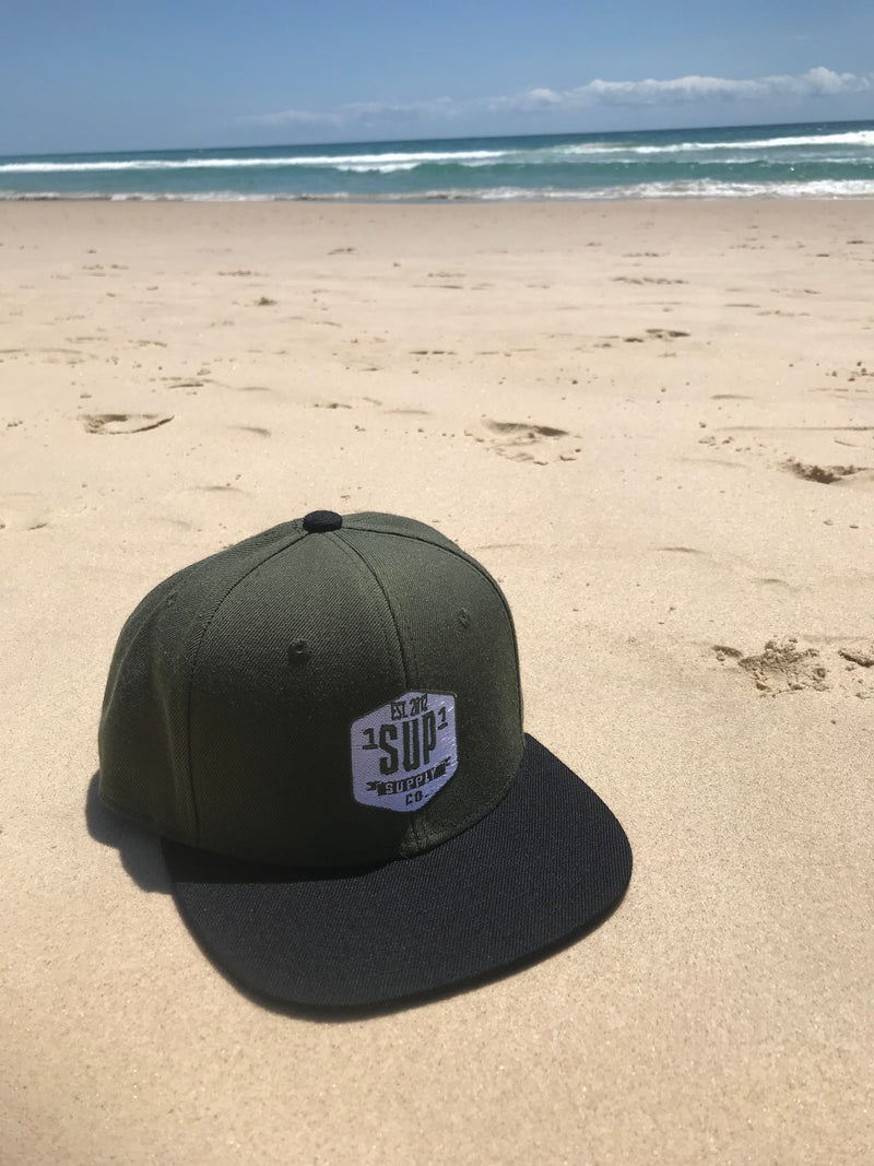 "1SUP1 ""Supply Co"" Cap (Olive/Black)"