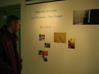 Doug at the Tree project exhibit.
