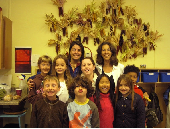 3rd Graders at High Meadow School grew Calico Popcorn in their school garden.