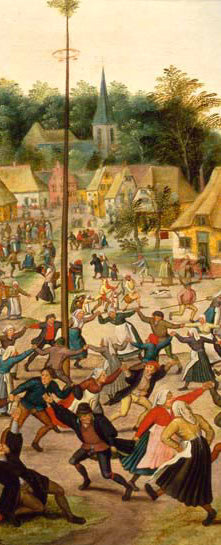 Detail from Dance Around the Maypole by Pieter Brueghel the Younger (1564-1635)