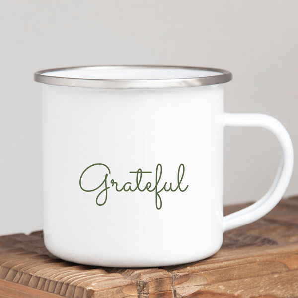 Grateful- Two Sided Camper Mug
