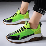 2019 breathable mesh sneakers colorblock twist shoes - agendin