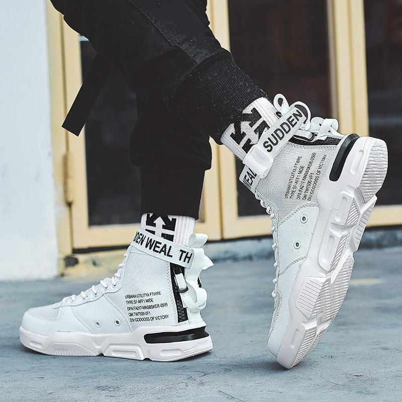 Men's high-top street fashion trend hip hop sports shoes - agendin