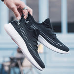 2019 spring new men's shoes flying woven running shoes men's sports shoes walking shoes - agendin
