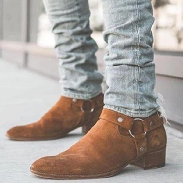 2019 Men Spring Autumn Suede Ankle Boots