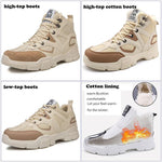 High-top hiking outdoor boots men's casual old-fashioned thick-soled sneakers - agendin