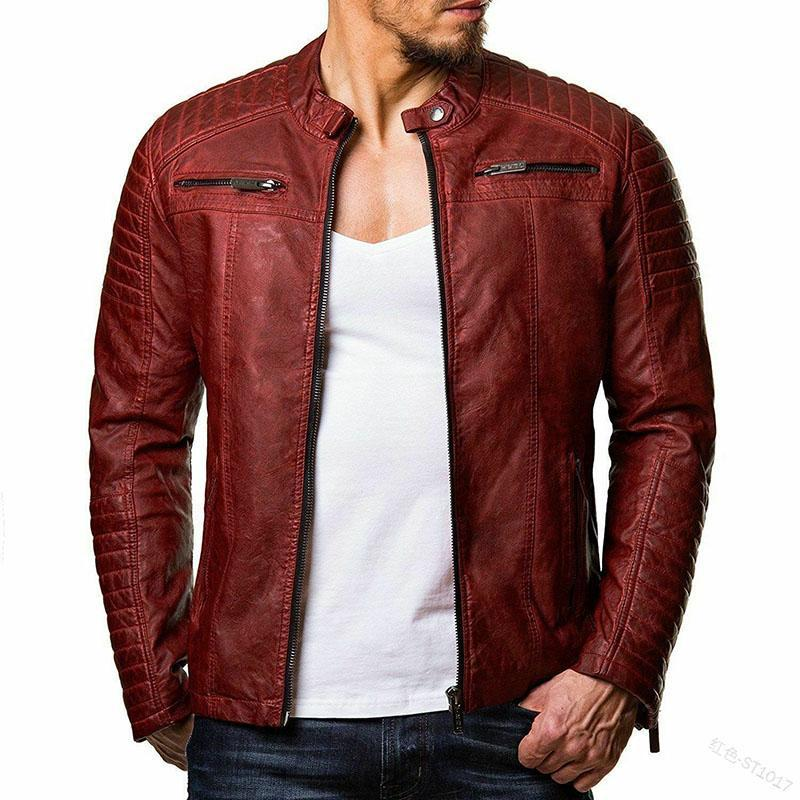2019 Autumn And Winter New Men's Leather Jacket