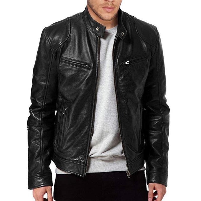 Men's Zipper Leather Jacket