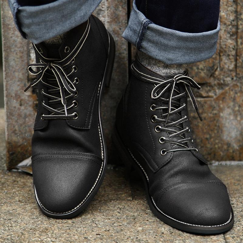 Genuine Leather Lace-up High Quality Vintage British Military Boots
