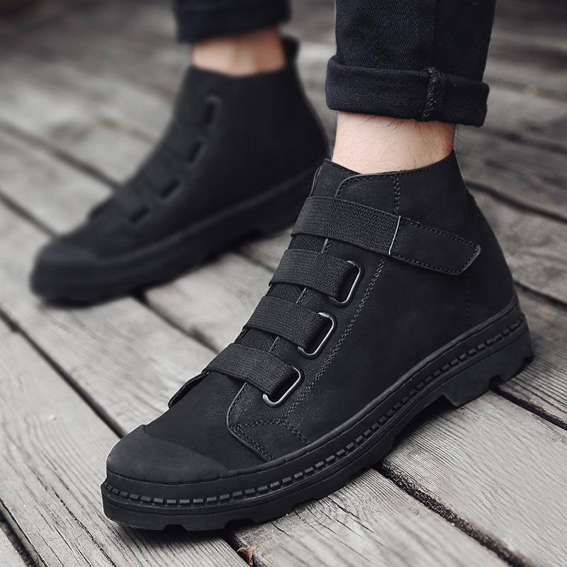 Men's Genuine Leather Rubber Ankle Boots
