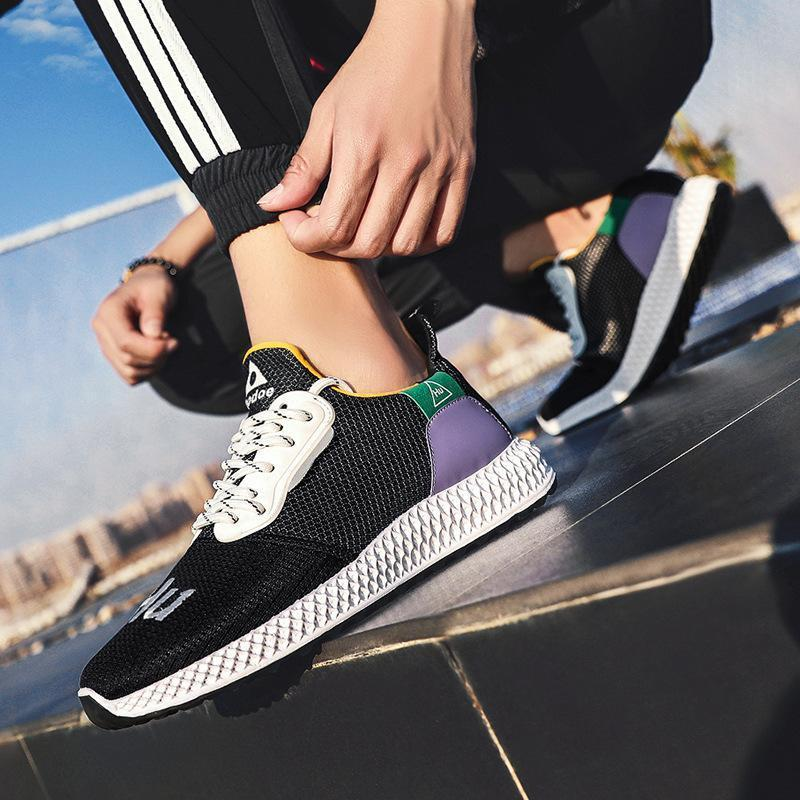 2019 spring and summer new flying woven sports shoes men's fashion running shoes - agendin