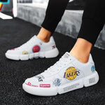Breathable graffiti air force one couple shoes - agendin