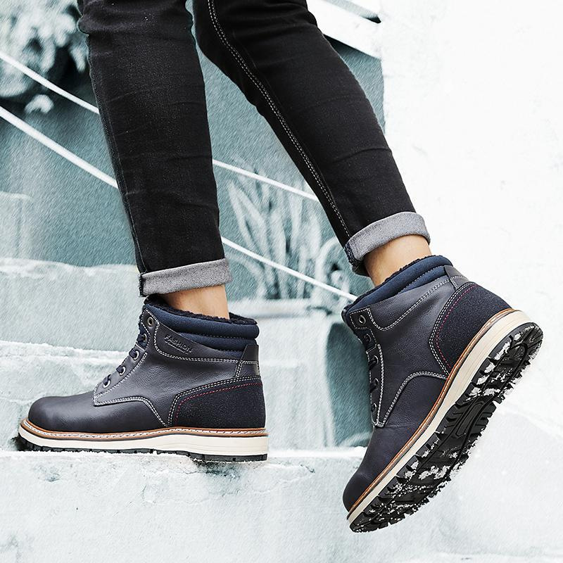 2019 Winter Leather Warm Boots