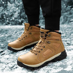 2019 Winter Men's Cotton Boots Wool Warm Non-Slip Hiking Shoes