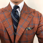 Casual Color Block Twill Necktie