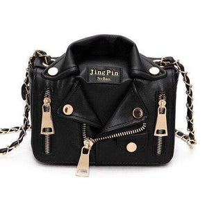 Buyshown Necklace&Rings Black Cool Jacket Shaped Shoulder Bag