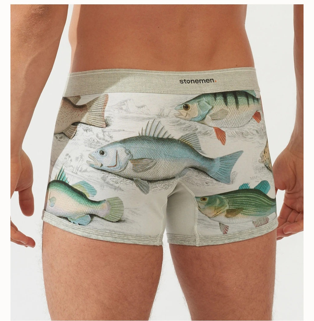 Fish Mens boxer Brief Stonemen
