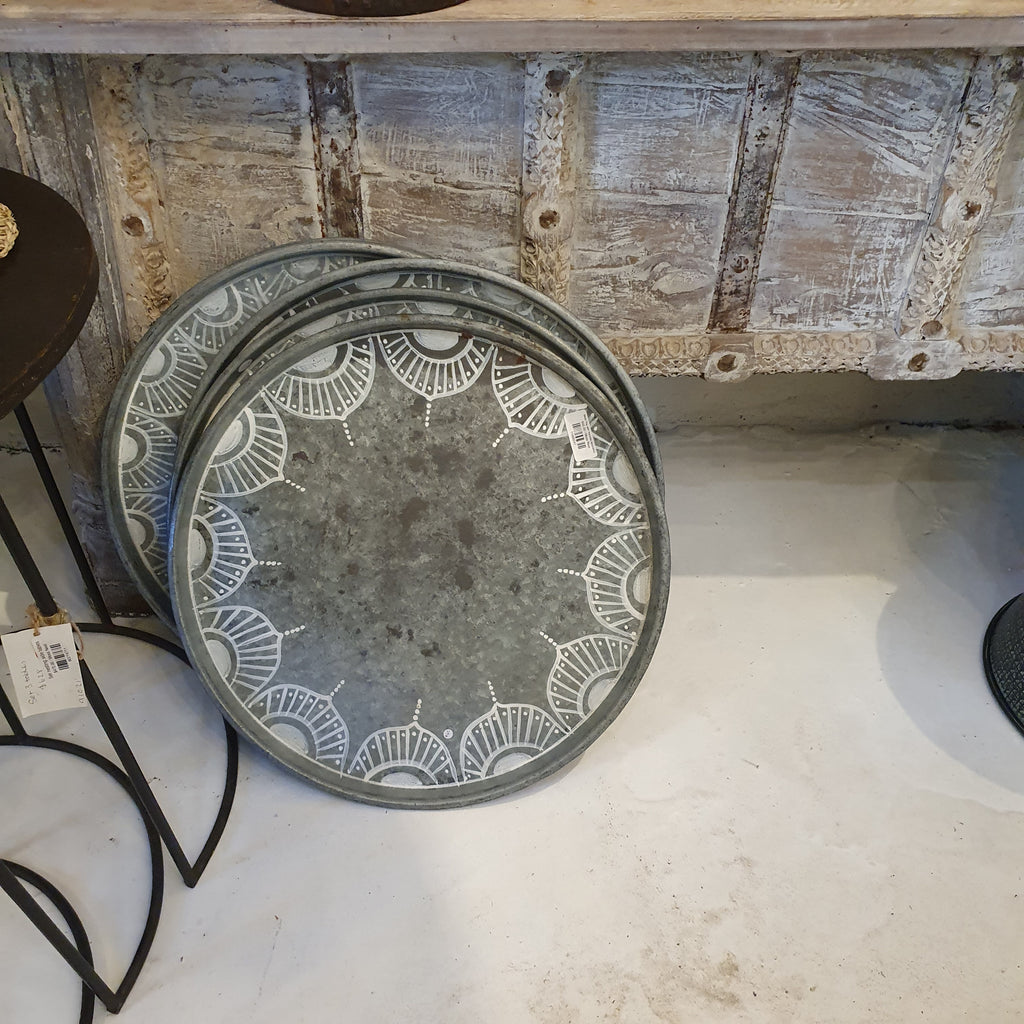 Metal Tray with mandala decoration