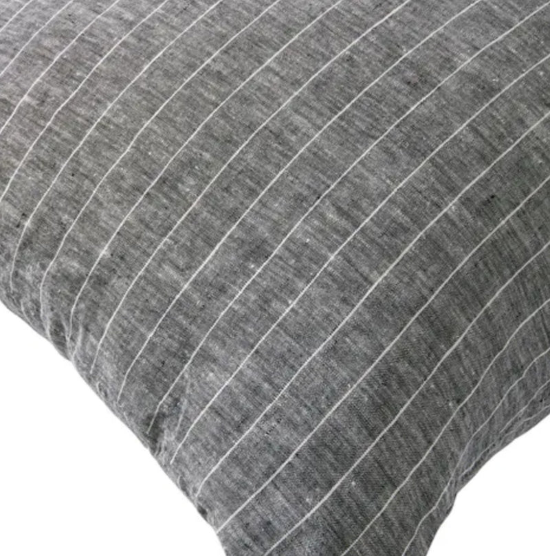 Grey with Thin White Stripe Cushion 45x 45