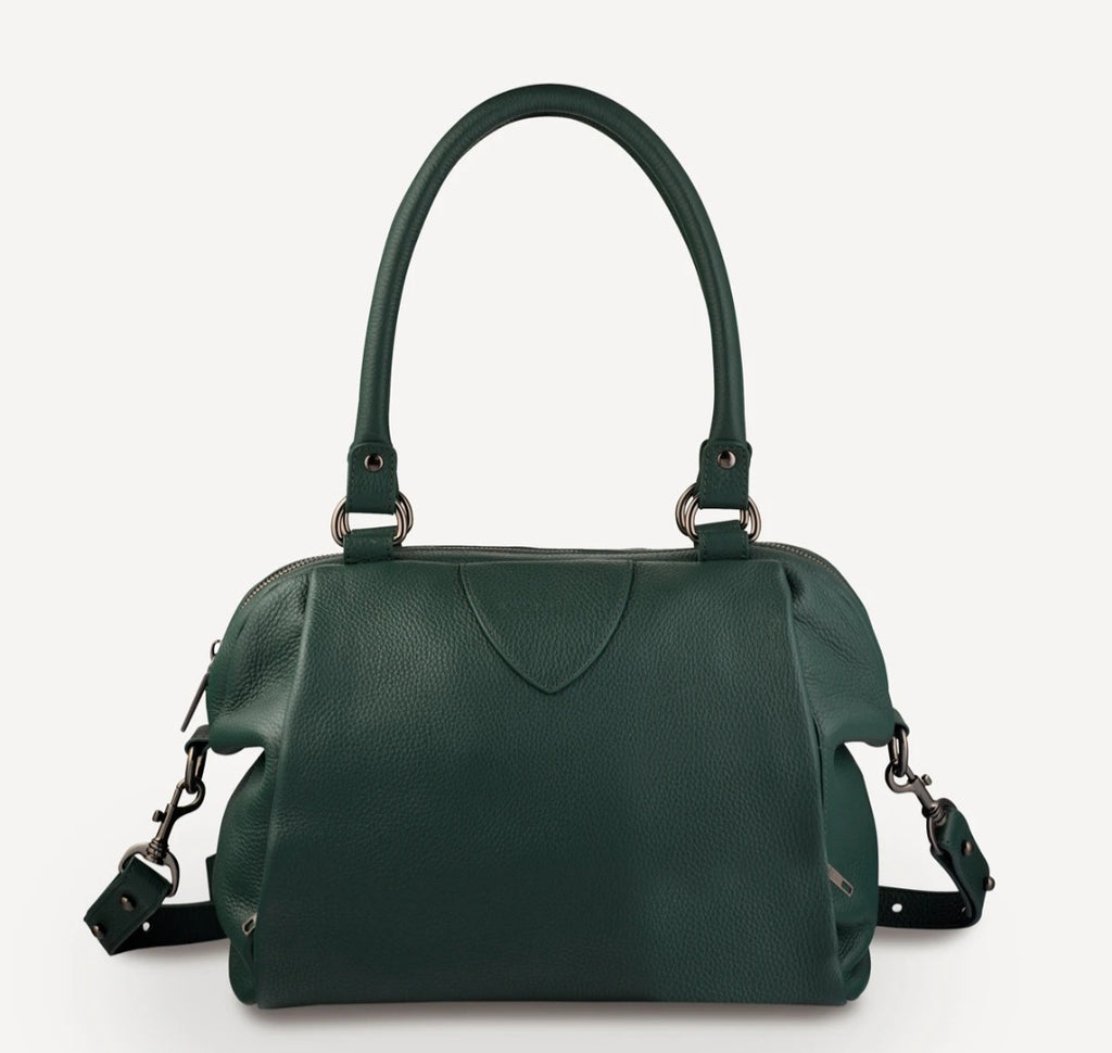 Force of Being Leather Bag Green