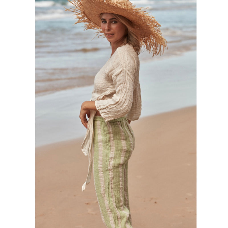 Avalon Stripe Linen Pants