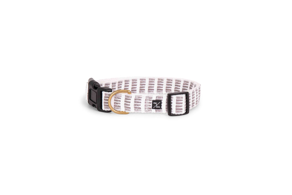 Hemp Dog Collar Latte White