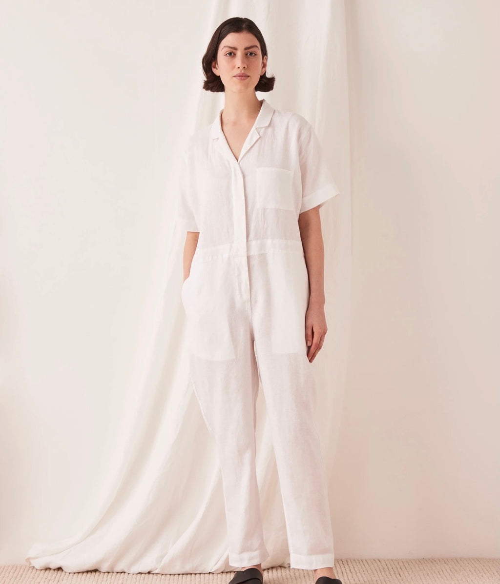 Linen Boilersuit white
