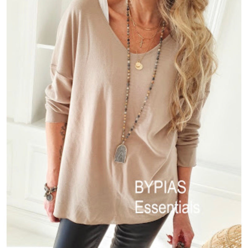 Faith Merino Wool Knit Taupe
