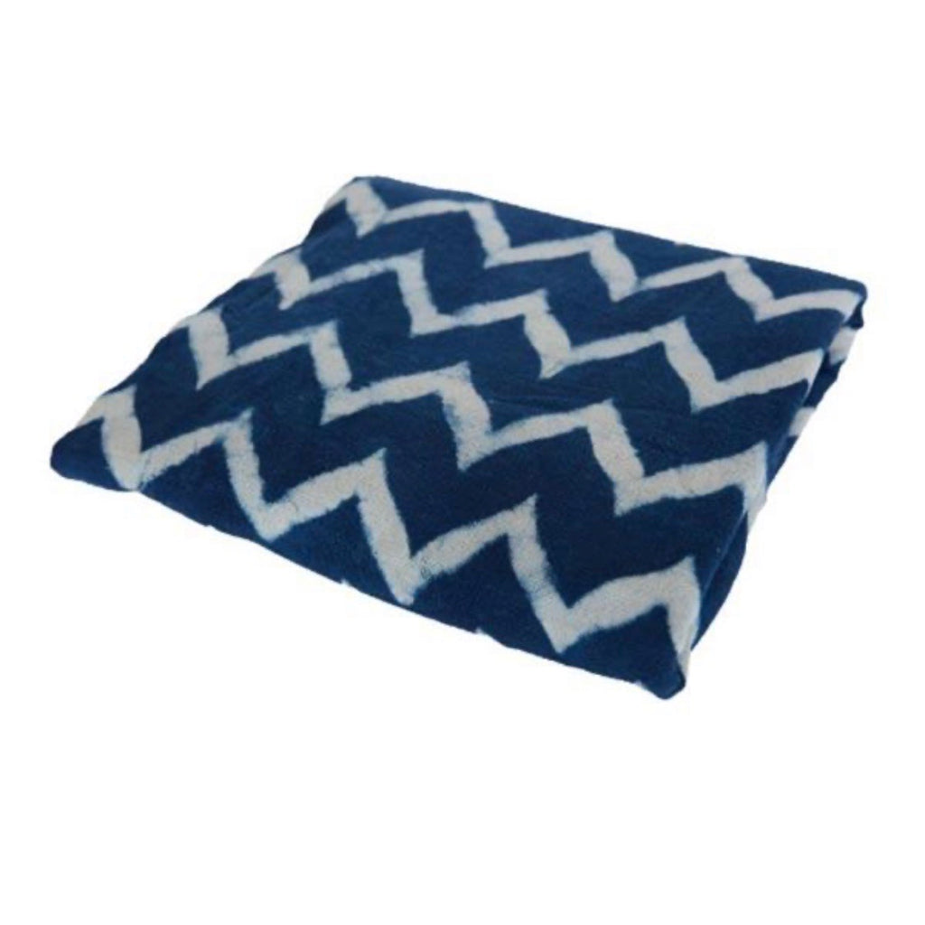 Chevron Indigo Throw