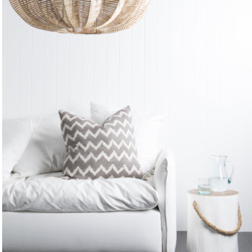 Chevron 'Iron' cushion