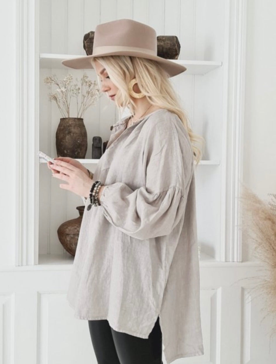 Pearly Linen Shirt