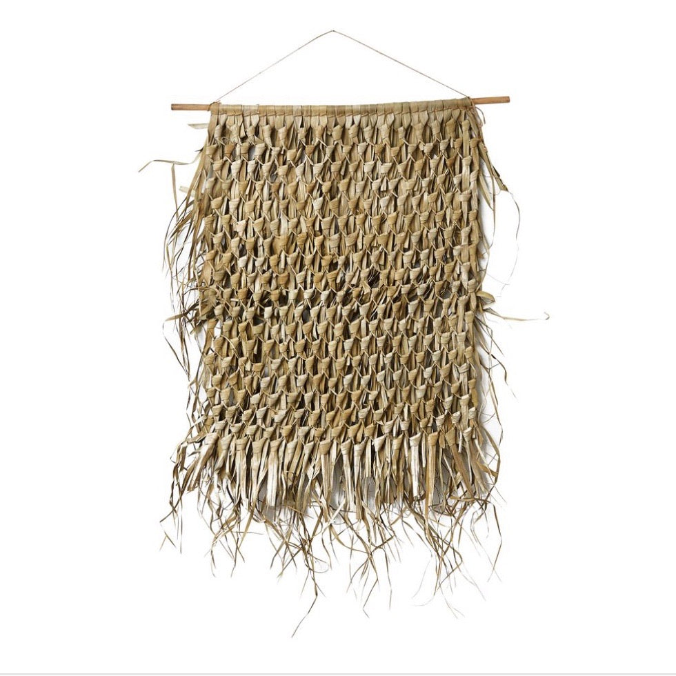Woven grass wall hanging - TEMPORARILY  OUT OF STOCK