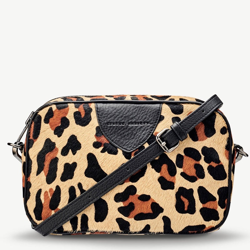 Plunder womens leather bag leopard