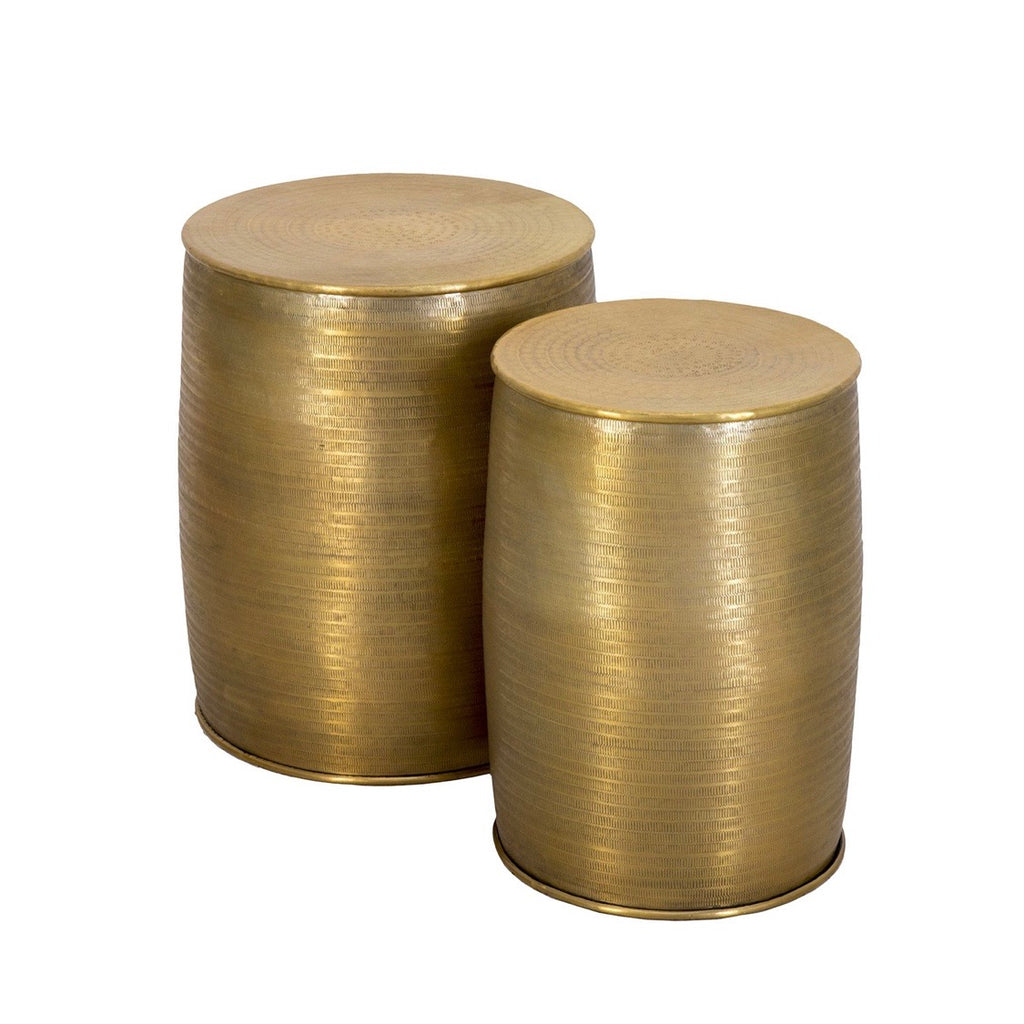 Aluminium Side Tables Brass Finish