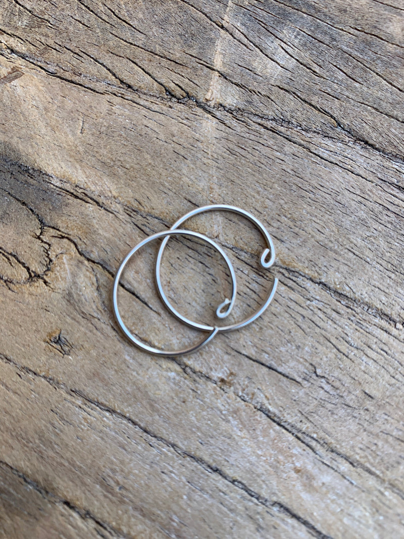 Silver hoops small