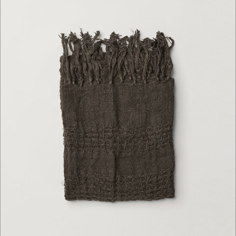 Ryely Linen Towel (Charcoal)