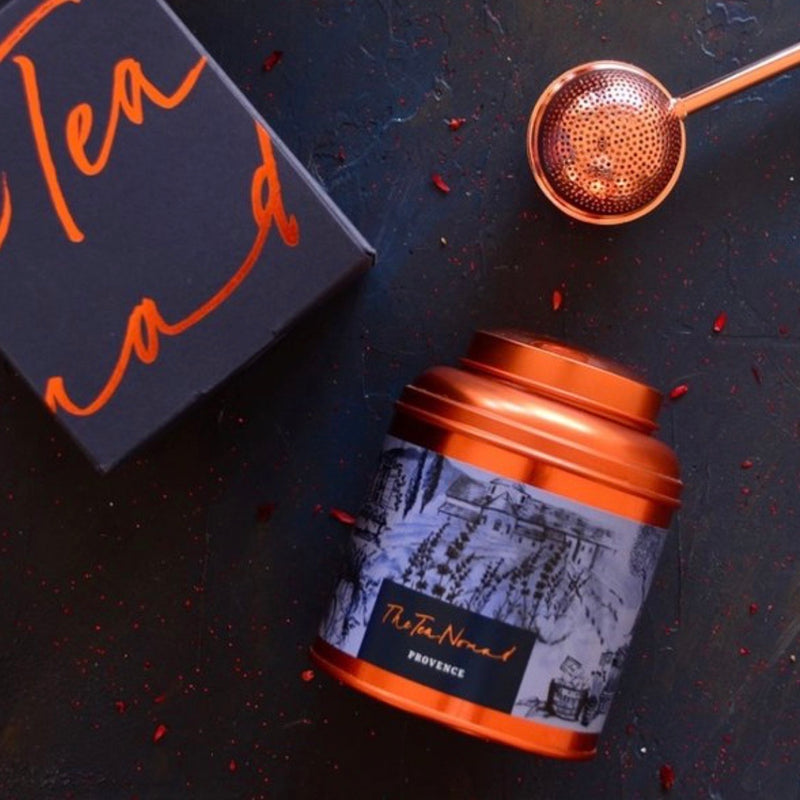 Tea Provence copper canister