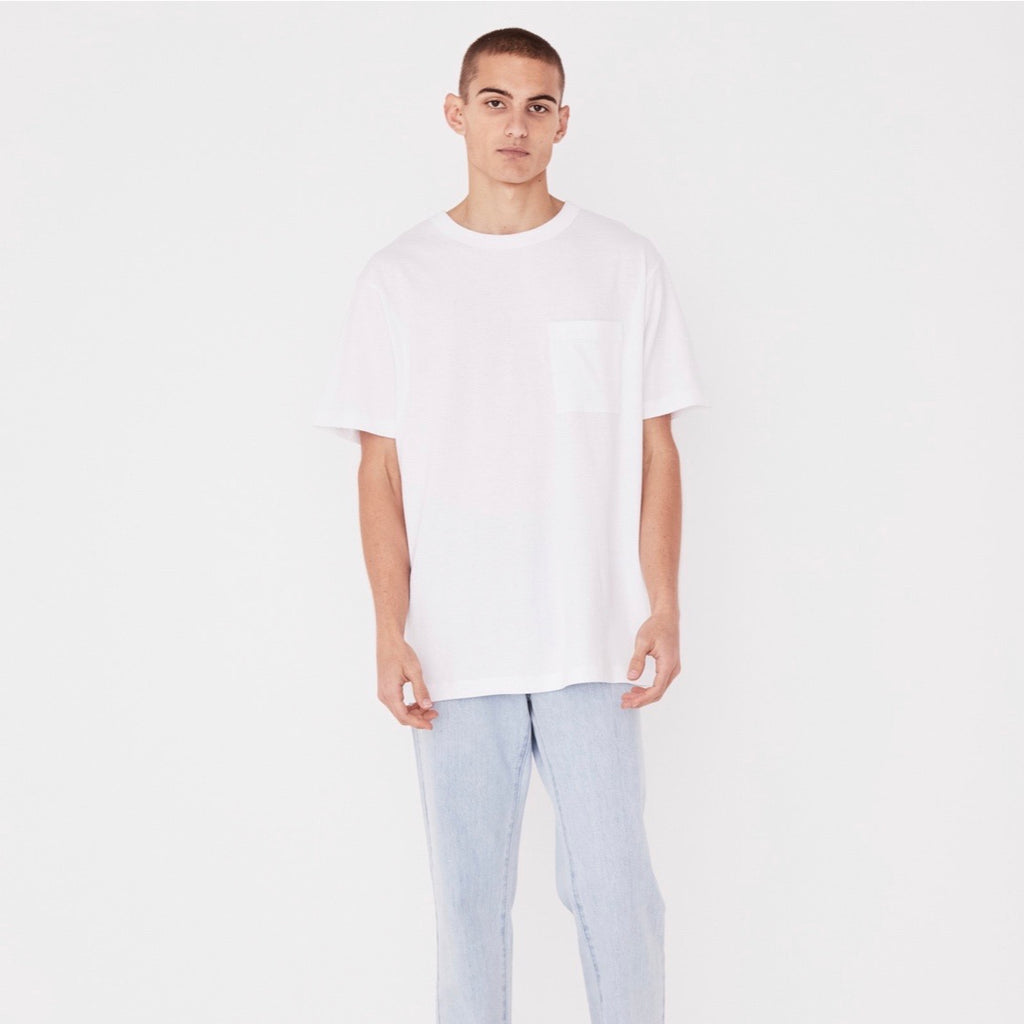 Remi Oversized Pocket Tee White